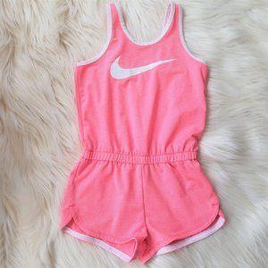 Nike Pink Stripe Romper